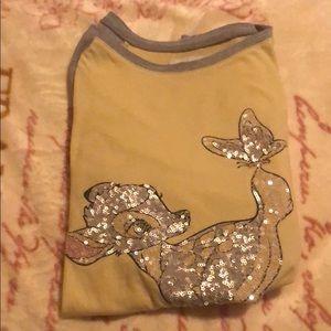 Yellow and Grey Bambi long sleeve shirt (girls)